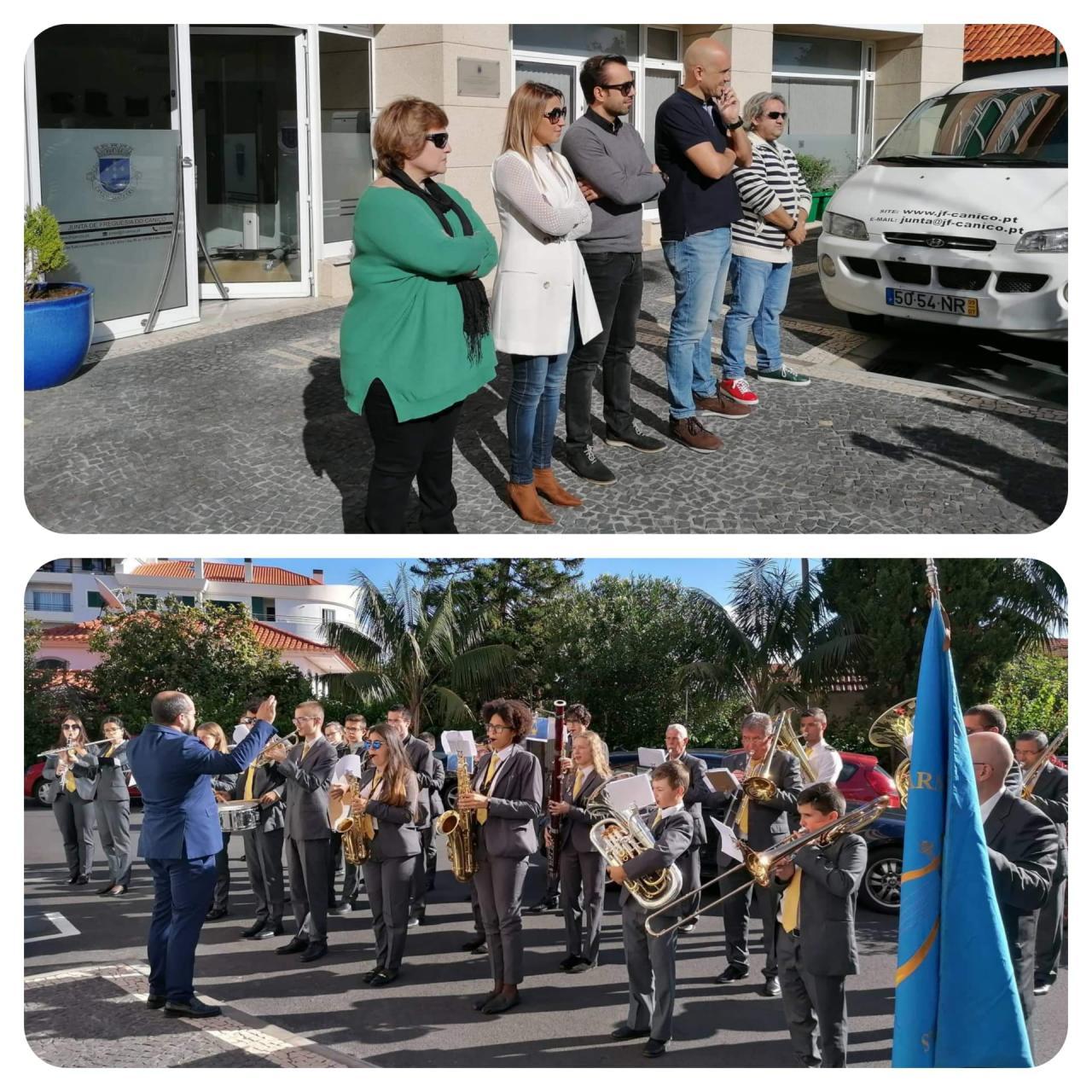 Visita da Banda Filarmónica do Caniço e Eiras