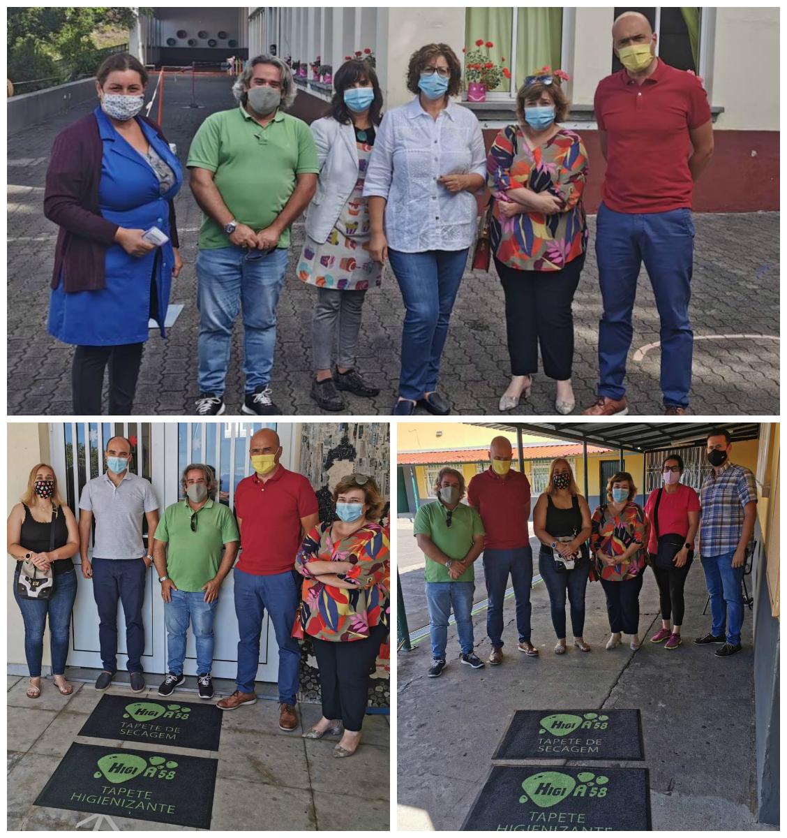 Junta de Freguesia do Caniço entregue Tapetes Sanitários às Escolas de 1º Ciclo com Pré-Escolar da Freguesia