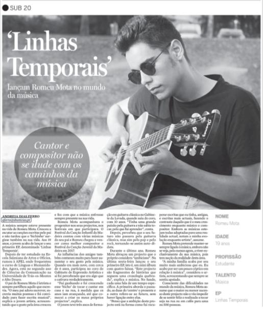 Música Made in Caniço em destaque no Diário de Notícias