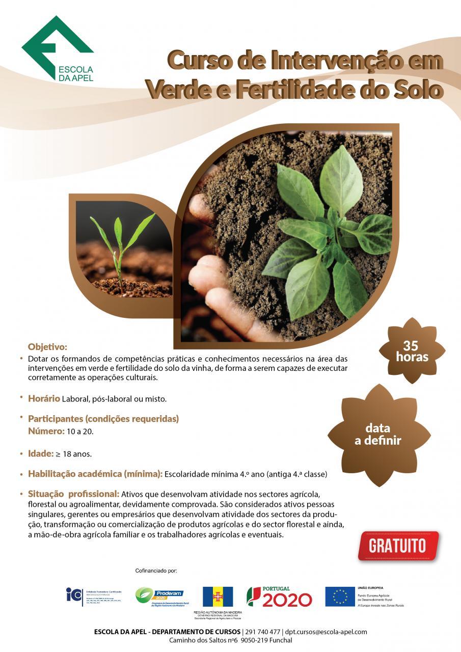 Curso de Intervenção em verde e fertilidade do solo (vinhas)