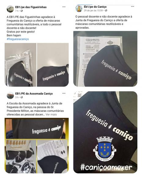Junta de Freguesia oferece máscaras comunitárias CERTIFICADAS